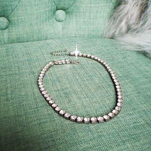 Statement rhinestone necklace